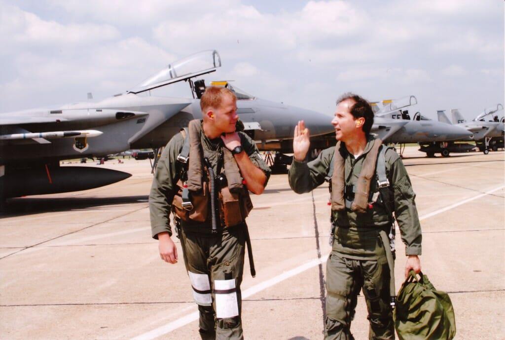 F-15 flight.