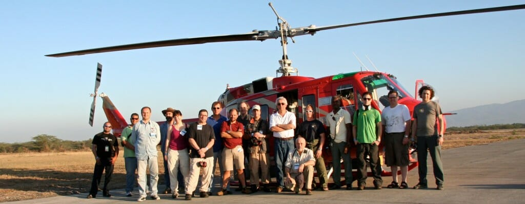 The production crew on the ground during the Haiti shoot for Rescue.